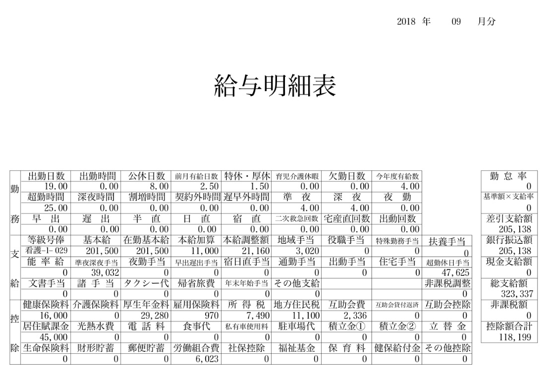 【実際の画像】聖隷横浜病院・看護師の給与明細・評判・給料・ボーナス・年収