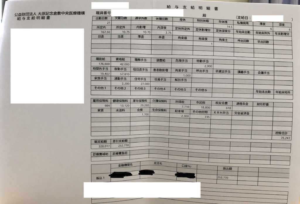 倉敷中央病院の年収・看護師の給与明細【ガチ画像】・給料・評判・口コミ・ボーナス・年収