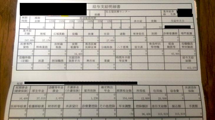 名古屋医療センター・看護師の給与明細【ガチ画像】・給料・評判・口コミ・ボーナス・年収